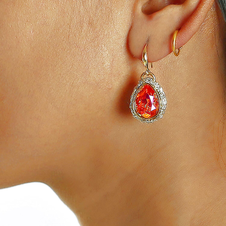 Lotty Padparadscha Earring - Model