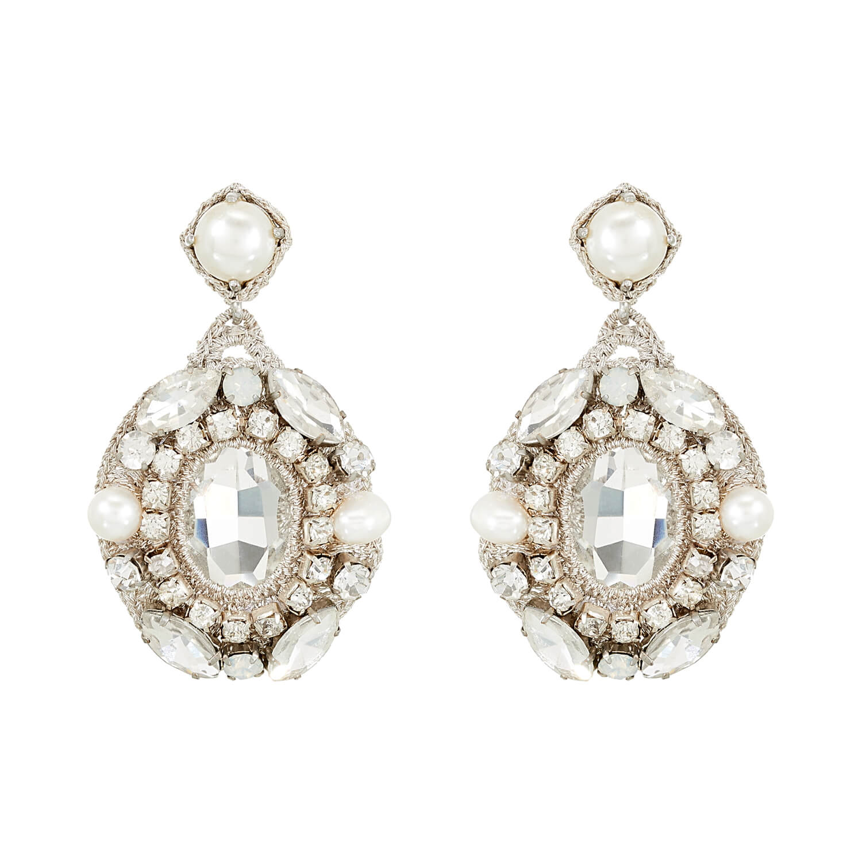 Isolde Pearl Earring- Aqua Montana