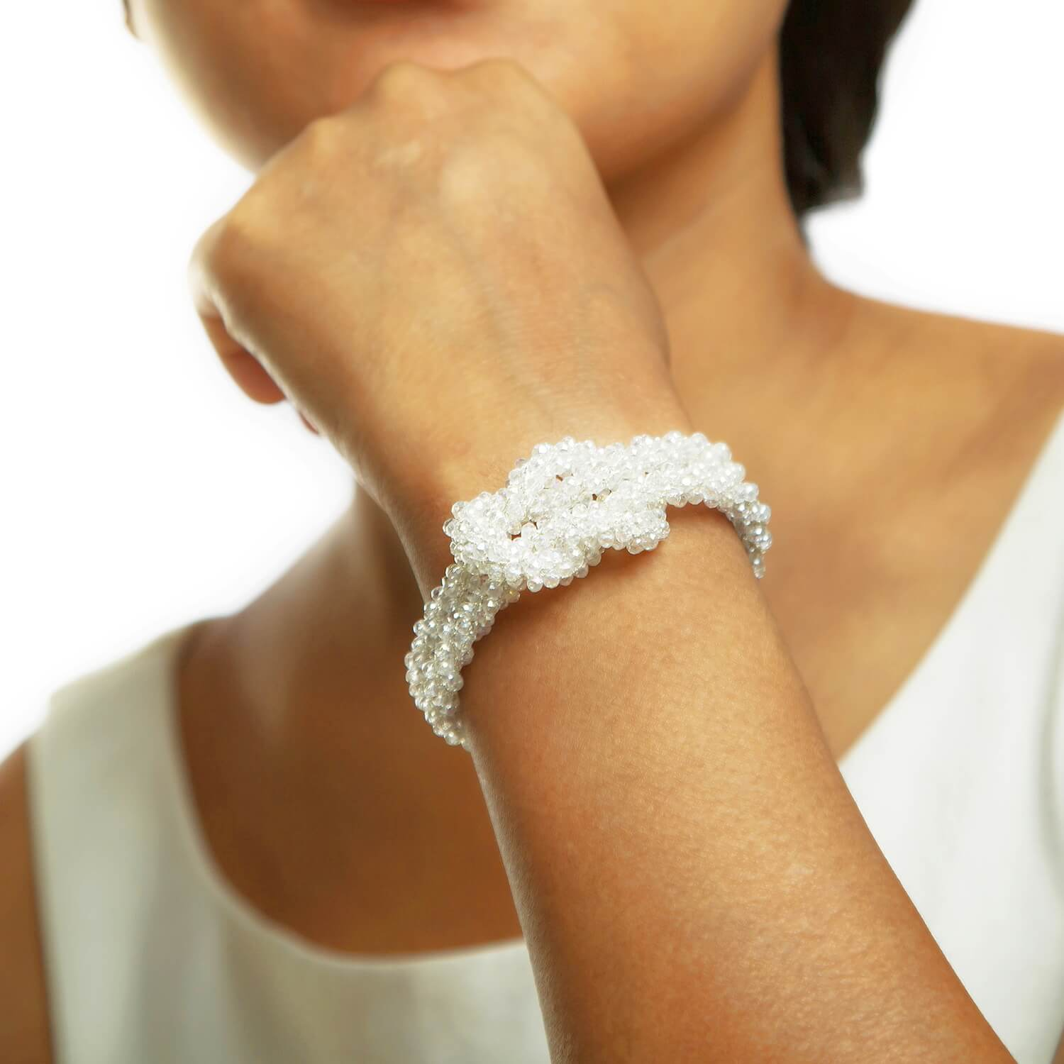 Claudia Crystal Bracelet - Model