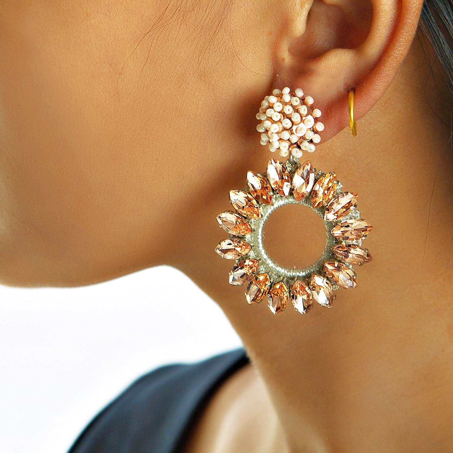 Lorelai Blush Earring - Model