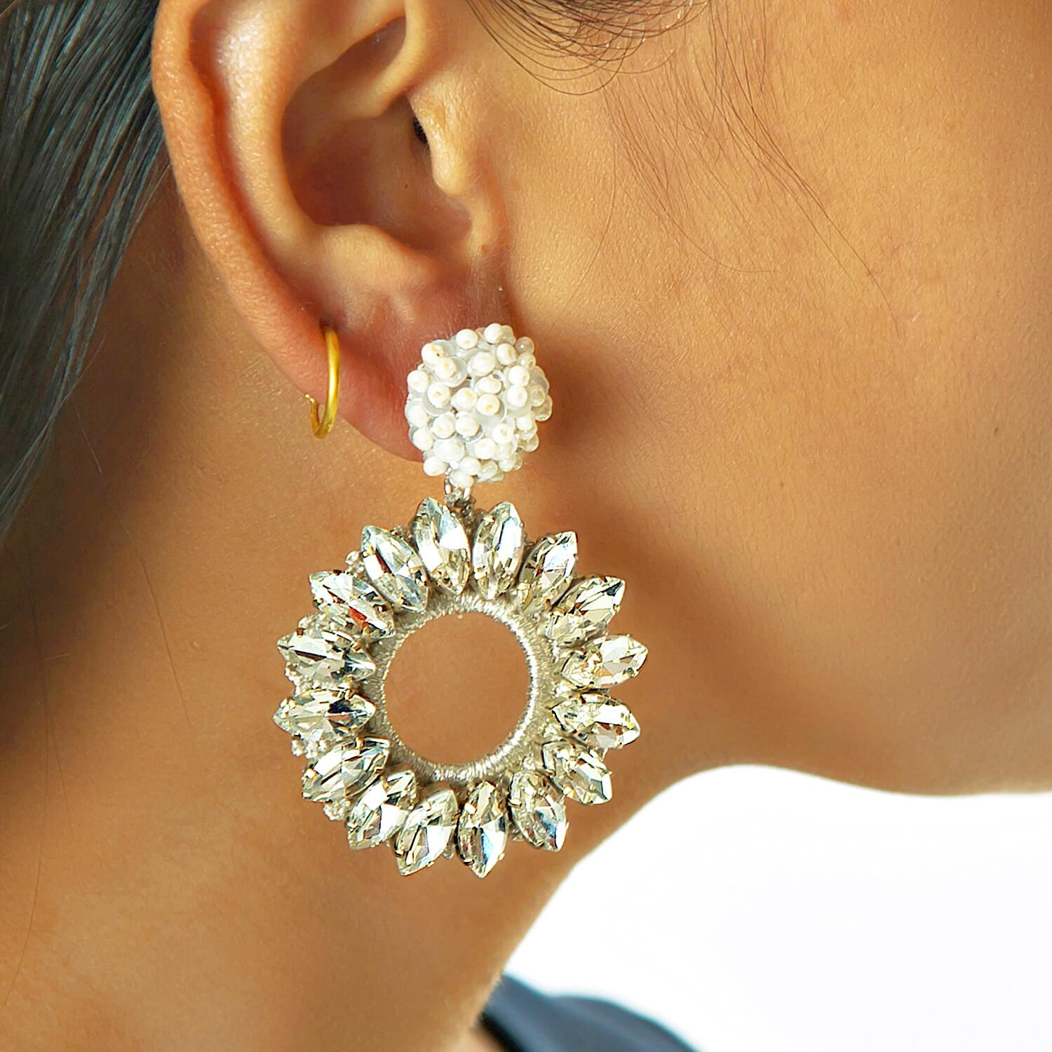 Lorelai Crystal Earring - Model