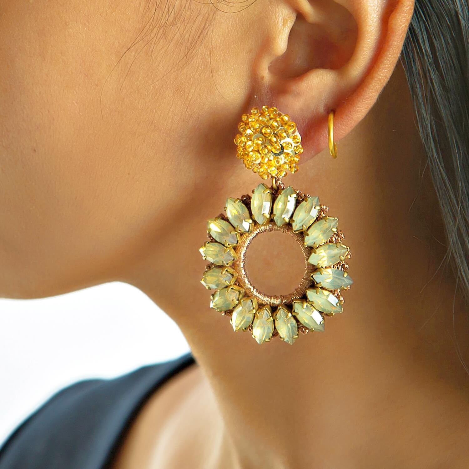Lorelai Gold Earring - Model