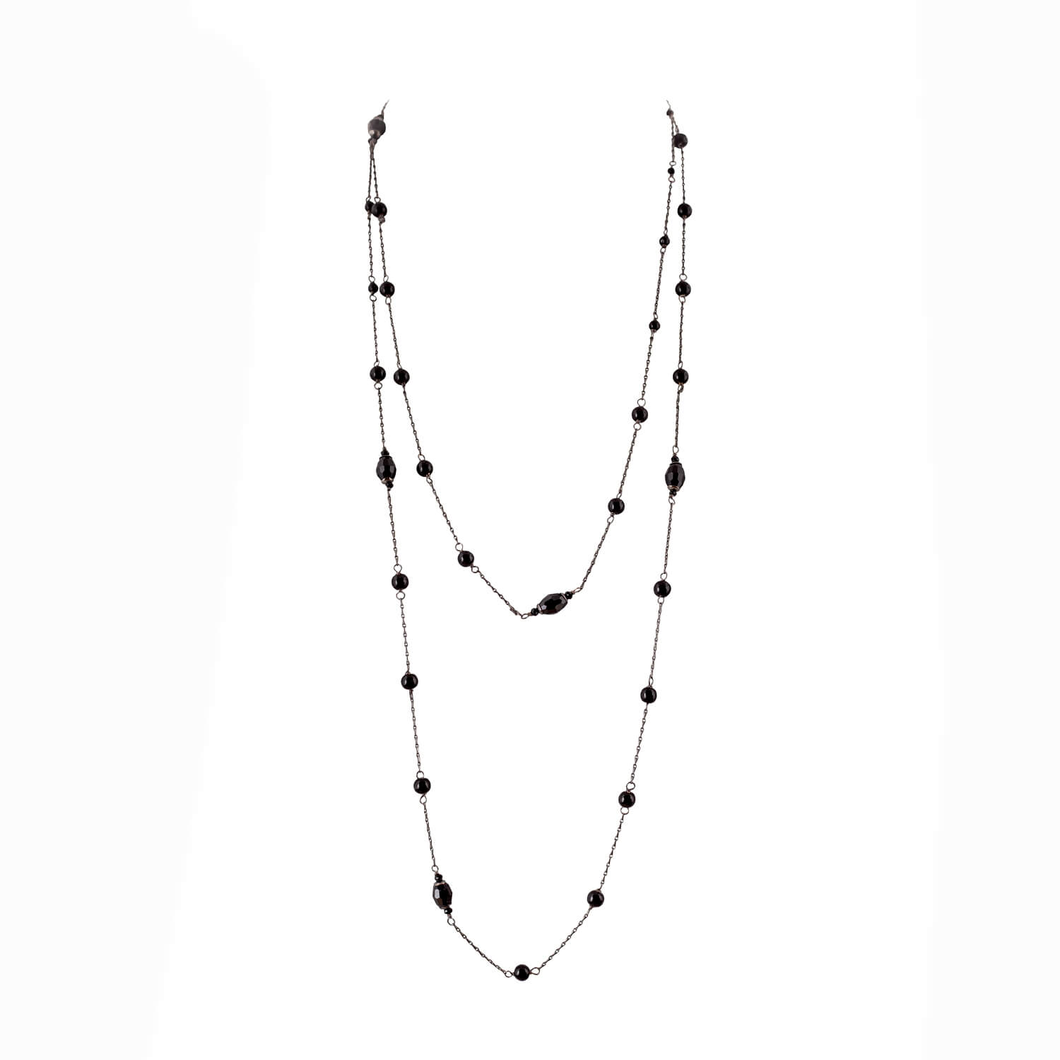 Wrap-around Necklace- Jet Black