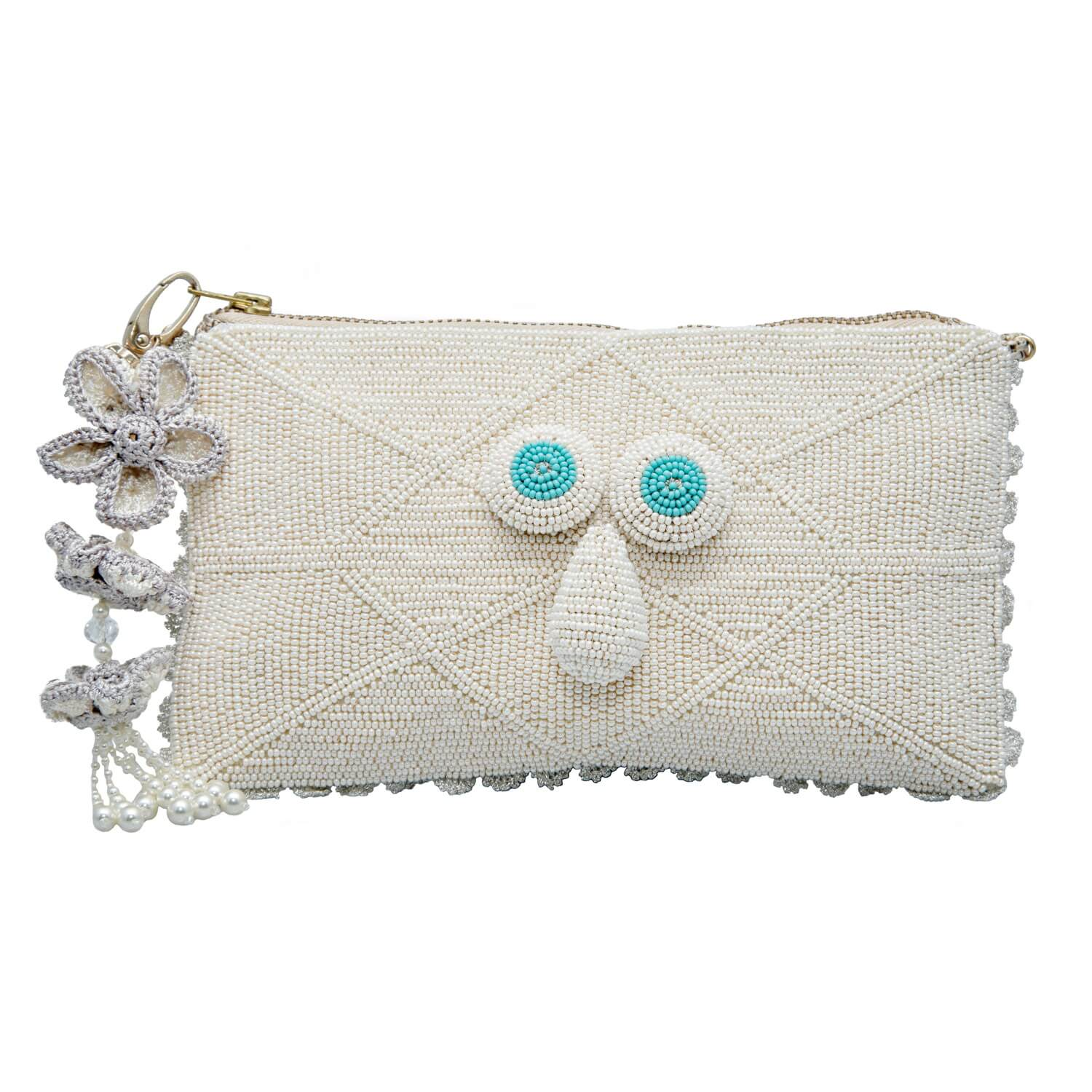 Koshi Evening Pouch- Ivory