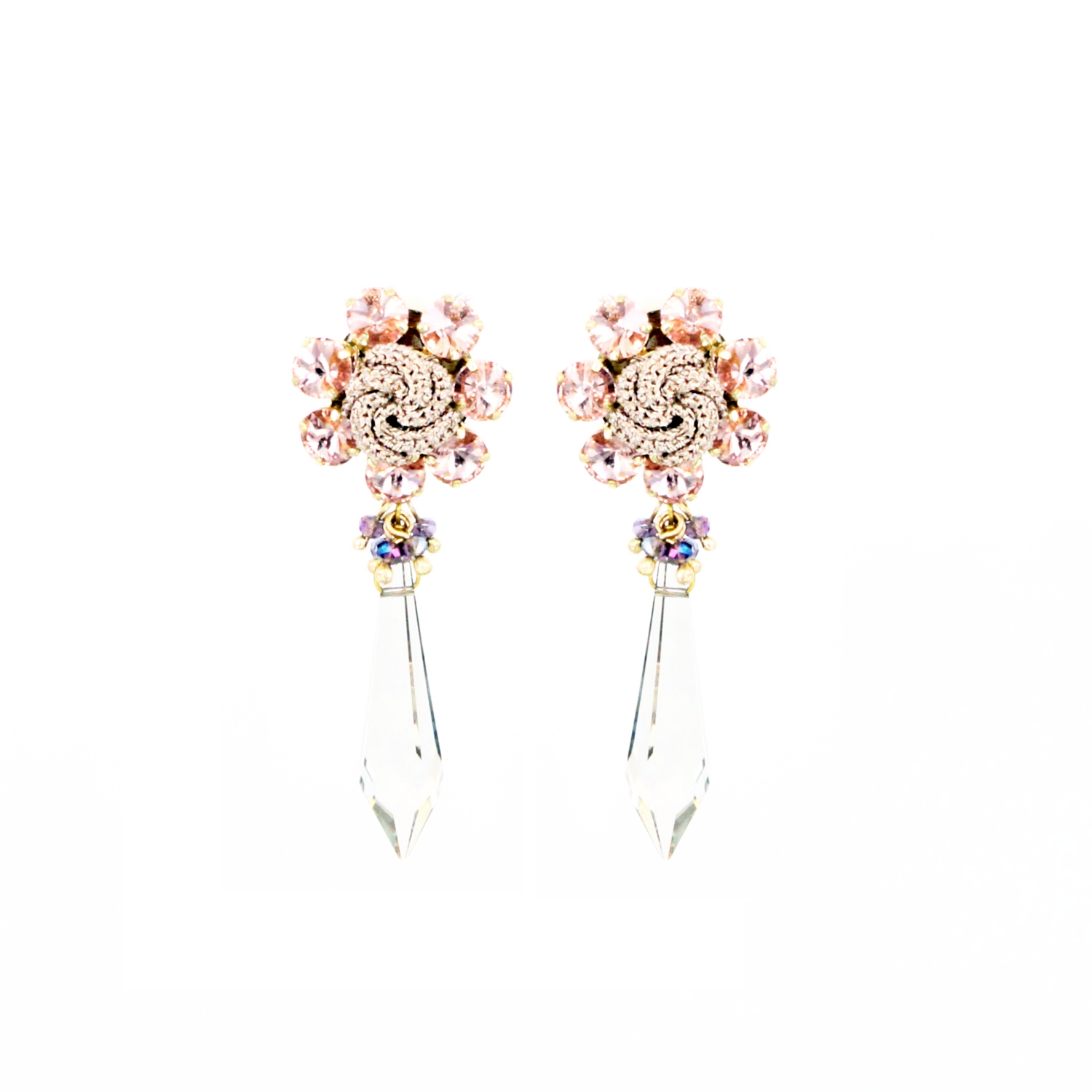 Frangipani Chandelier Earring - Blush