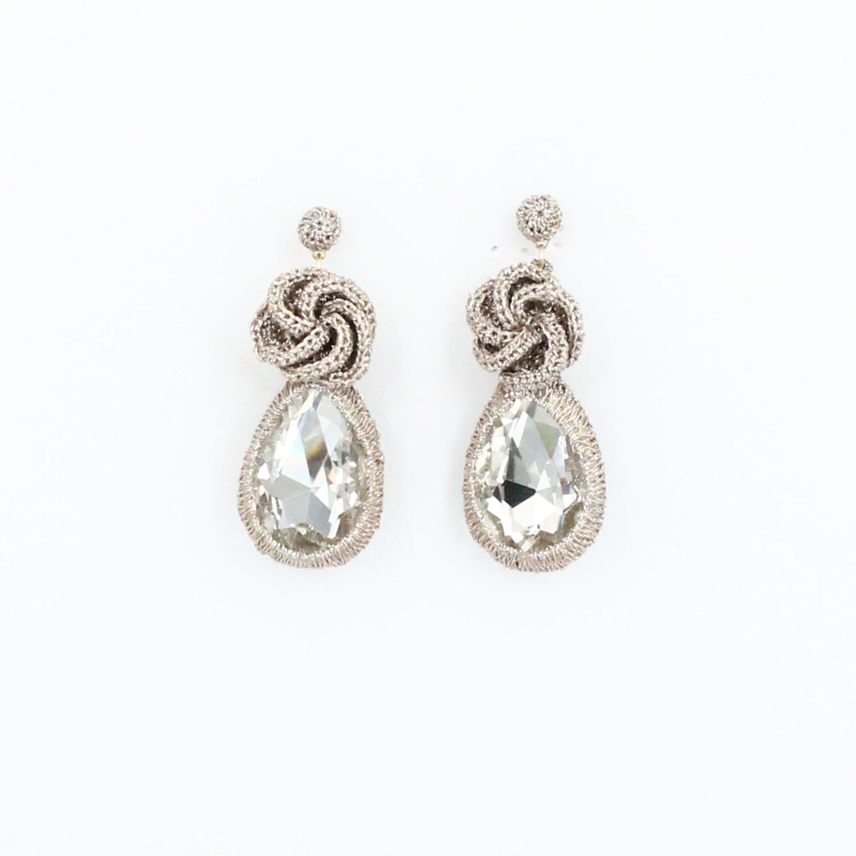 Frangipani Droplet Earring - Clear