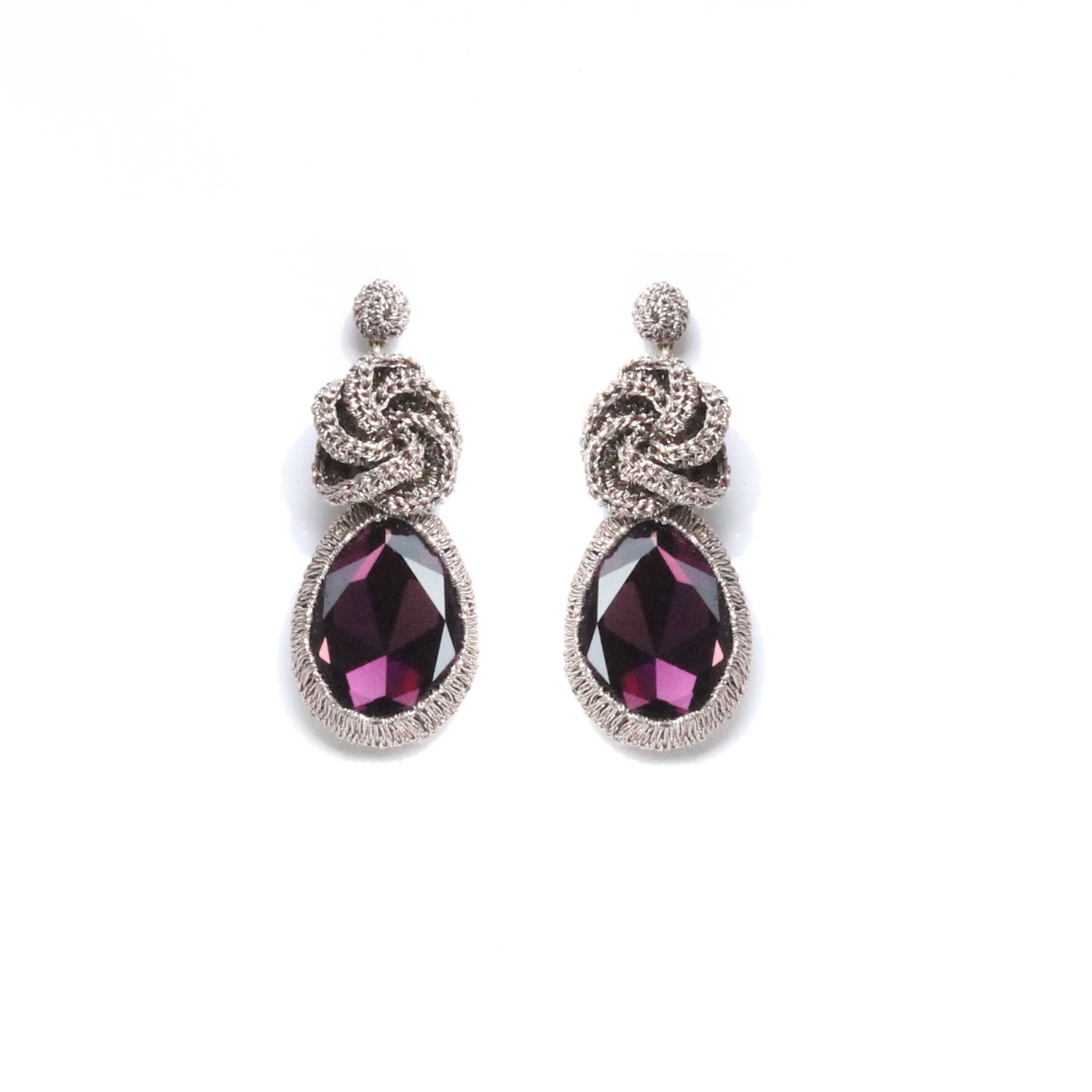 Frangipani Droplet Earring - Purple