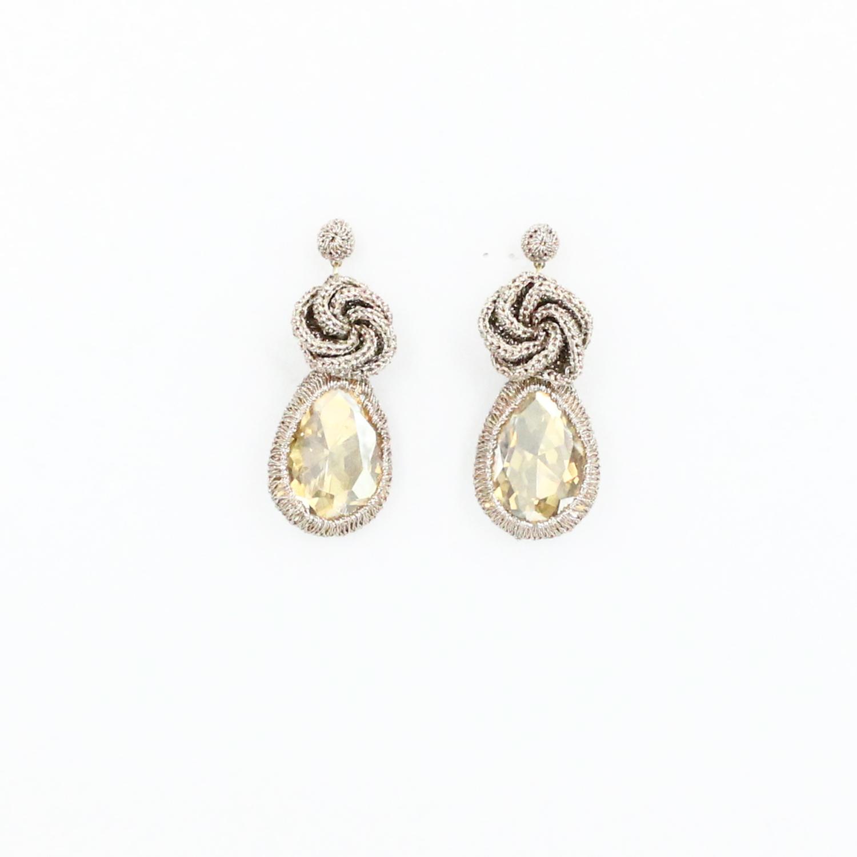 Frangipani Droplet Earring - Caramel