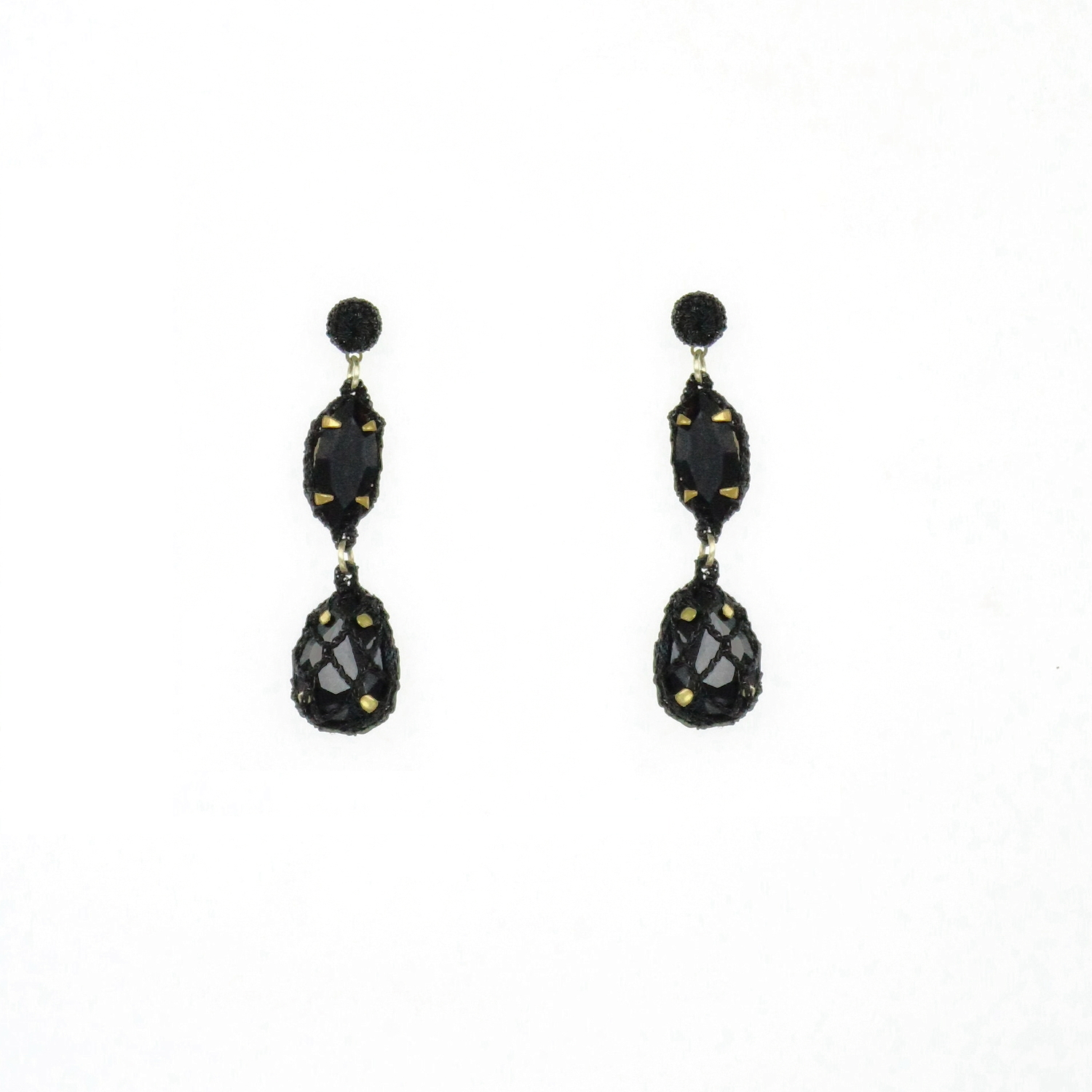 Venus Honey Drop Earrings In Jet
