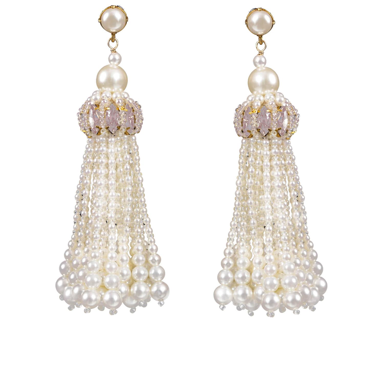 Sophia Pink Opal Earring- Opal Pearl Pink