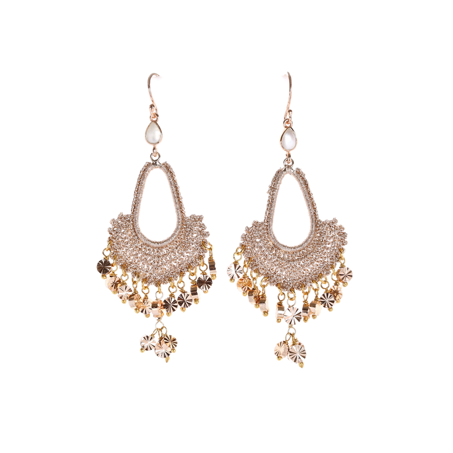Nomad Rose Gold With Gold Tassel A Style Drop Earring