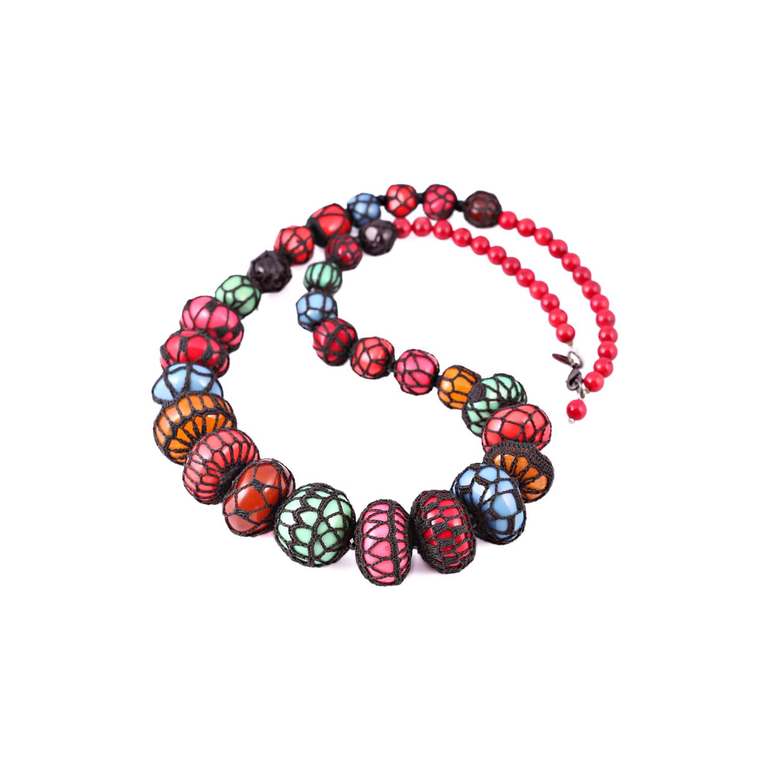 Queen of Sheba Counting Beads Multi-Colour Necklace