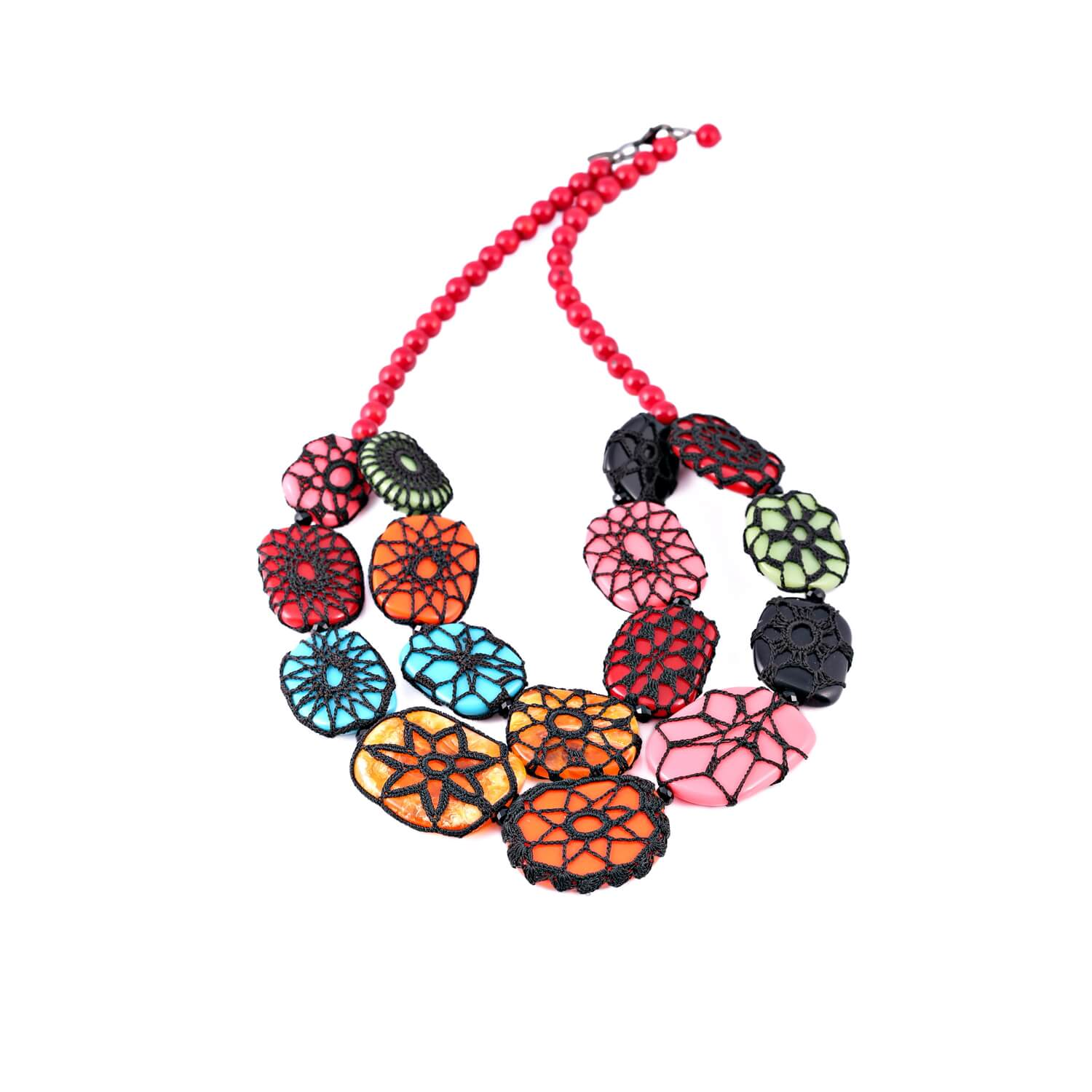 Queen of Sheba House of Cards Multi-Colour Necklace