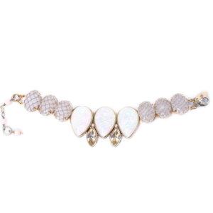 Venus Rose Teardrop Petal Bracelet - Opal White 1