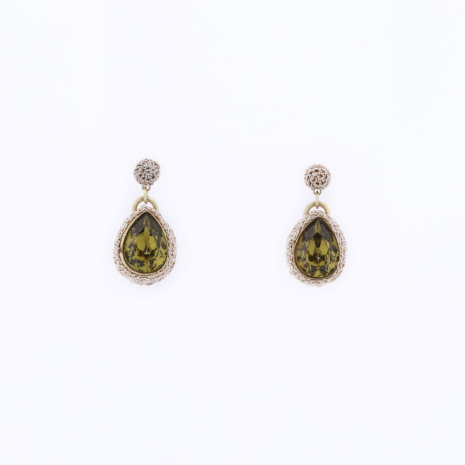 Venus Morning Dew Drop Earring - Moss