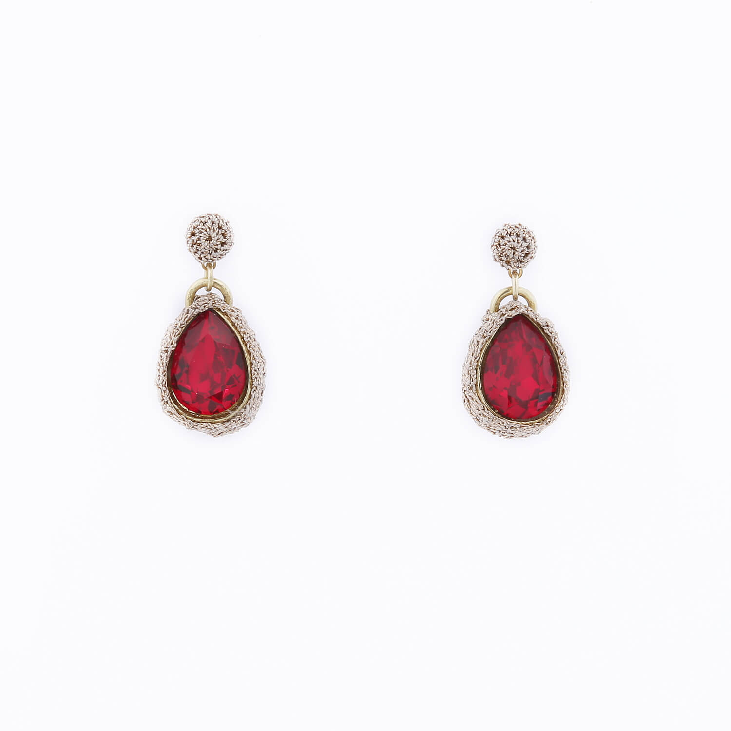 Venus Morning Dew Drop Earring - Ruby