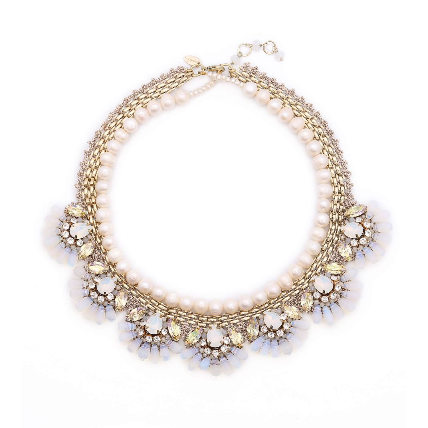 Aphrodite String of Pearls Mermaid Necklace - Ivory Pearl