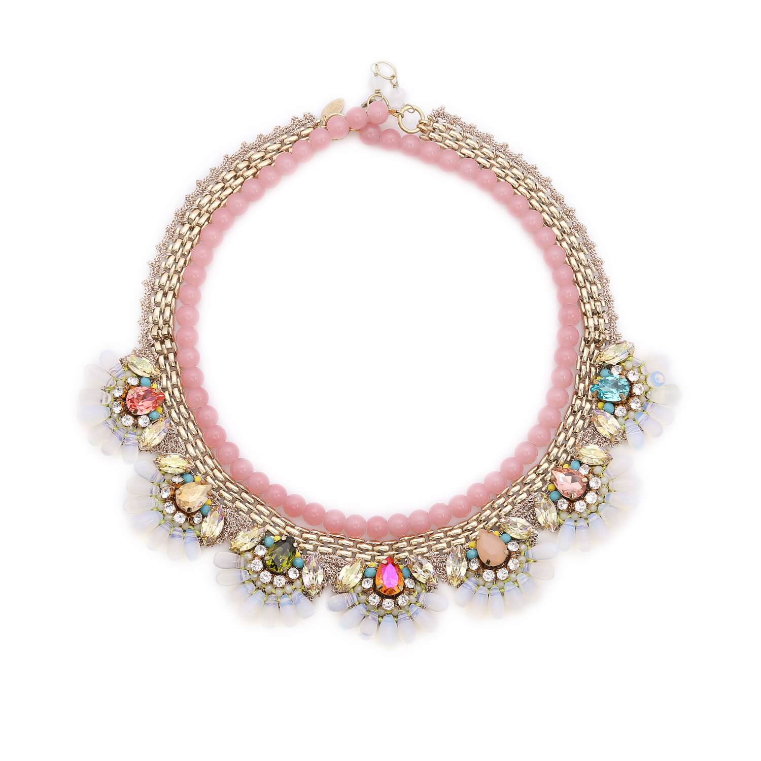 Aphrodite String of Pearls Mermaid Necklace - Blush Multi-Colour