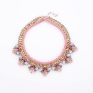 Venus String of Pearls Deco Necklace - Blush Opal
