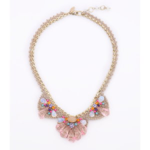 Venus Scallop Cone Deco Necklace - Blush Opal