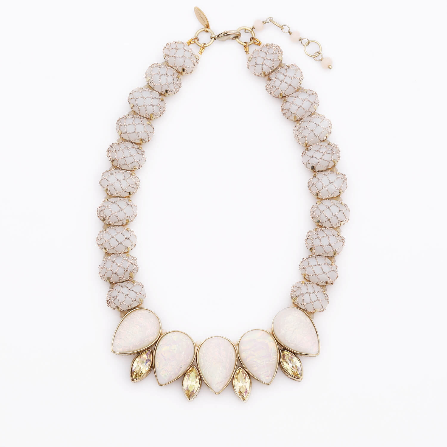 Venus Rose Teardrop Necklace - Pearl Opal