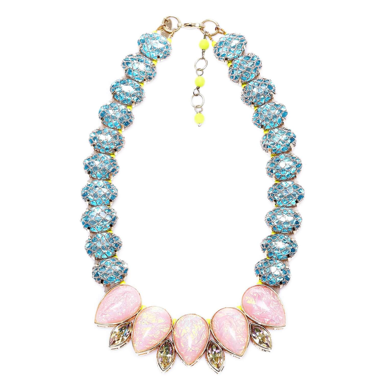 Venus Rose Teardrop Necklace - Blush Sapphire