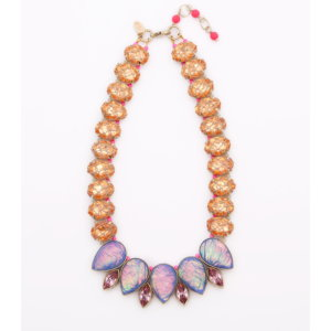 Venus Rose Teardrop Necklace - Violet Tangerine