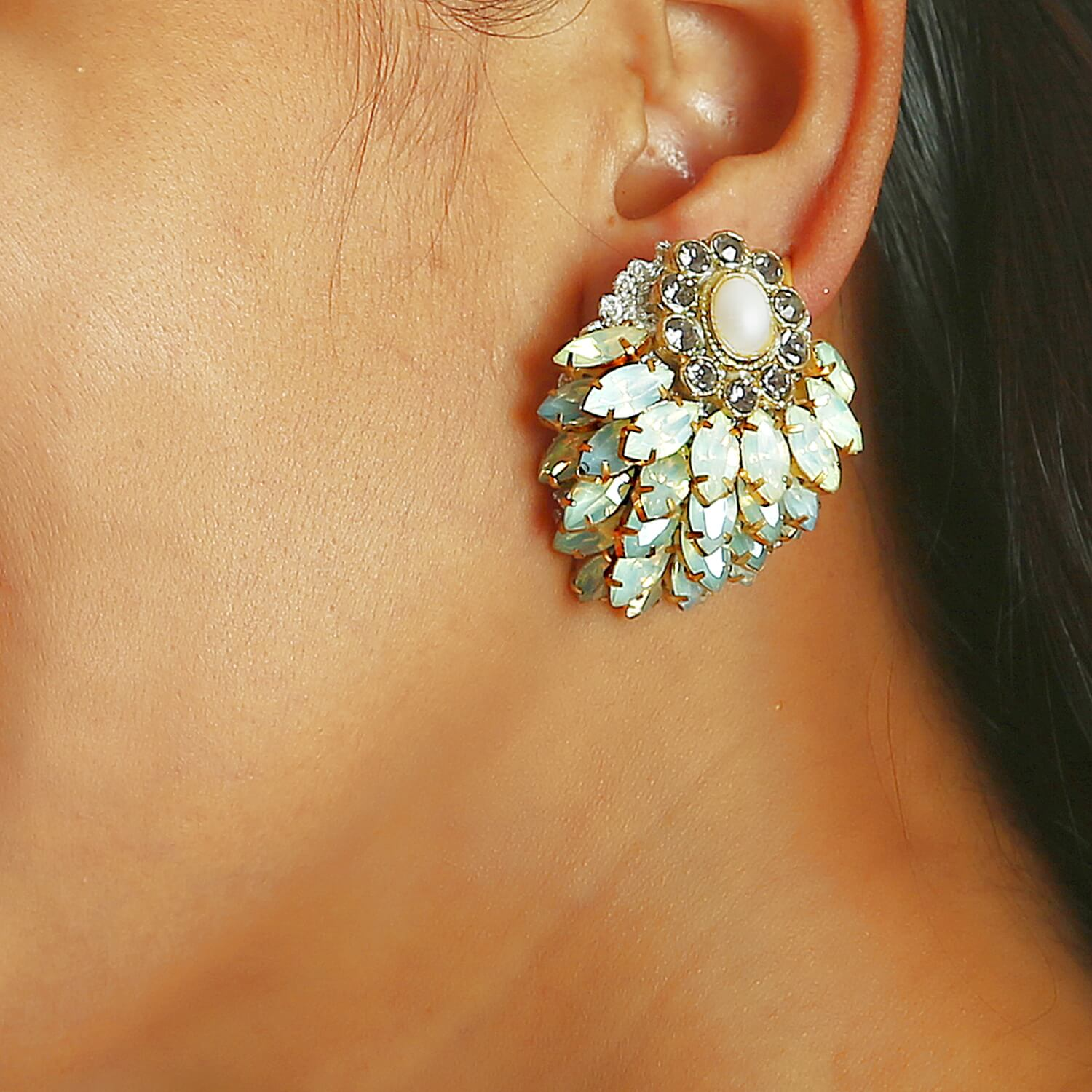 Opal Blossom Earring - Model