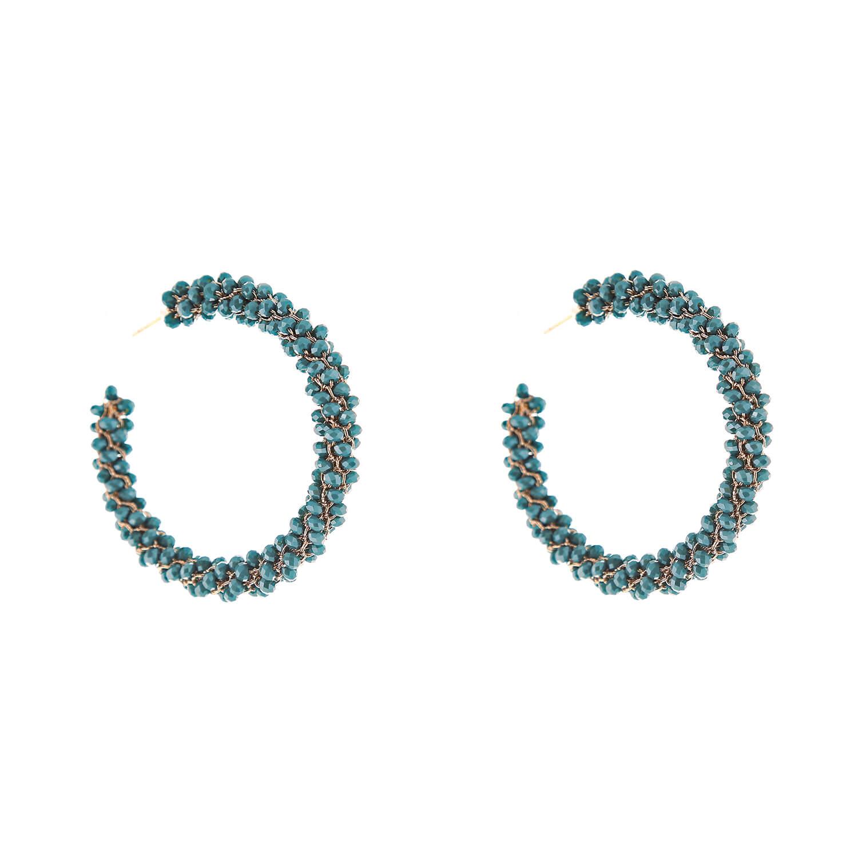Kendra Aqua Hoop Earring- Aqua