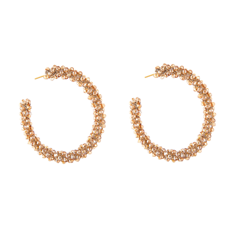 Kendra Gold Hoop Earring- Champagne