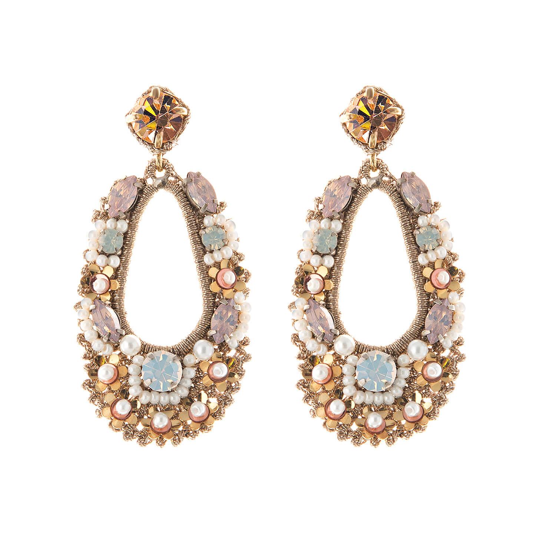 Natasha Blush Earring- Opal Gold Pearl Pink