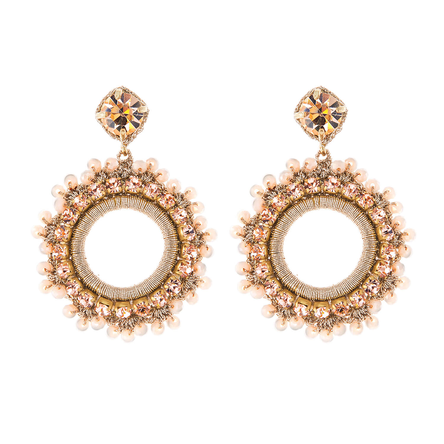 Leya Blush Earring- Blush Rose