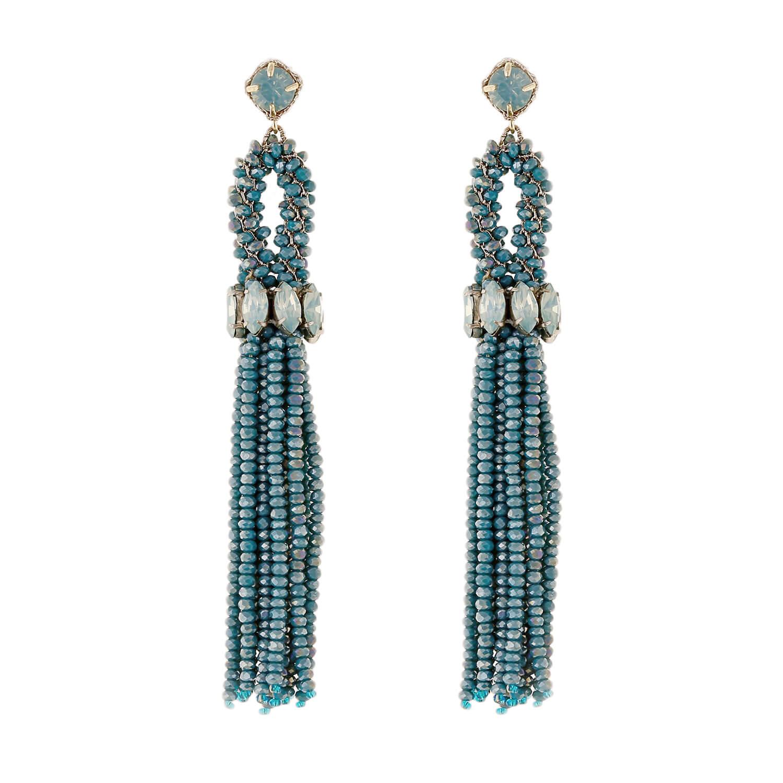 Aqua Tain Earring- Aqua Opal