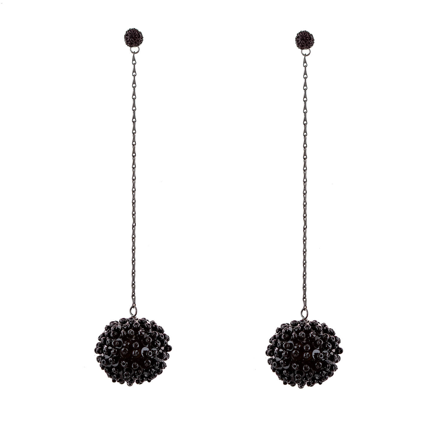 Disco Ball Earring- Jet Black