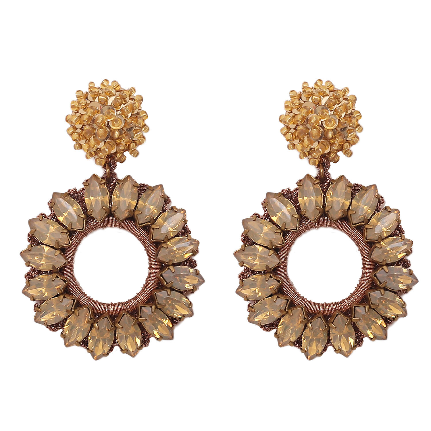 Lorelai Gold Earring- Champagne