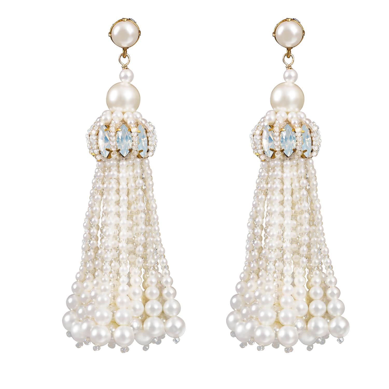 Sophia Earring- Opal Pearl