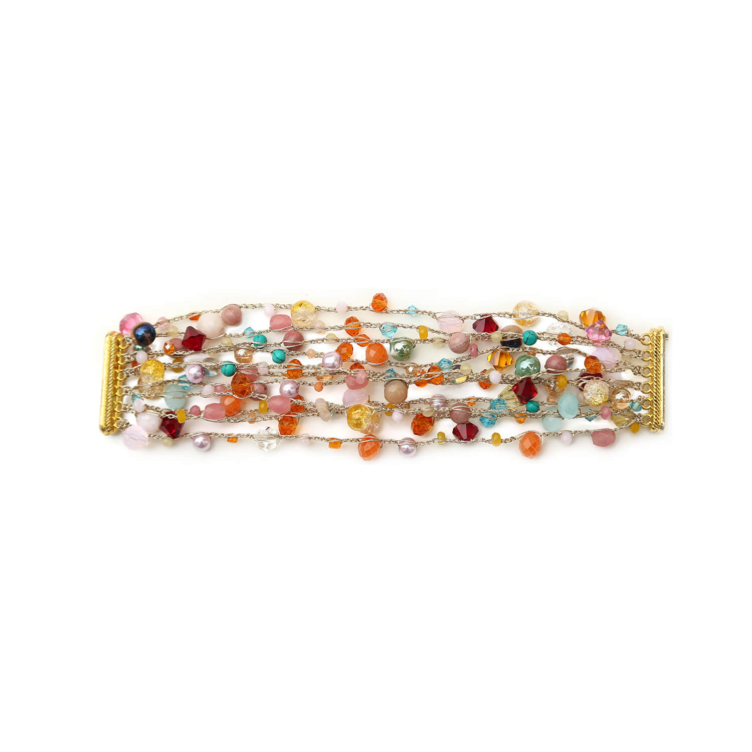 Bella Bracelet- Multi-Colour Gold