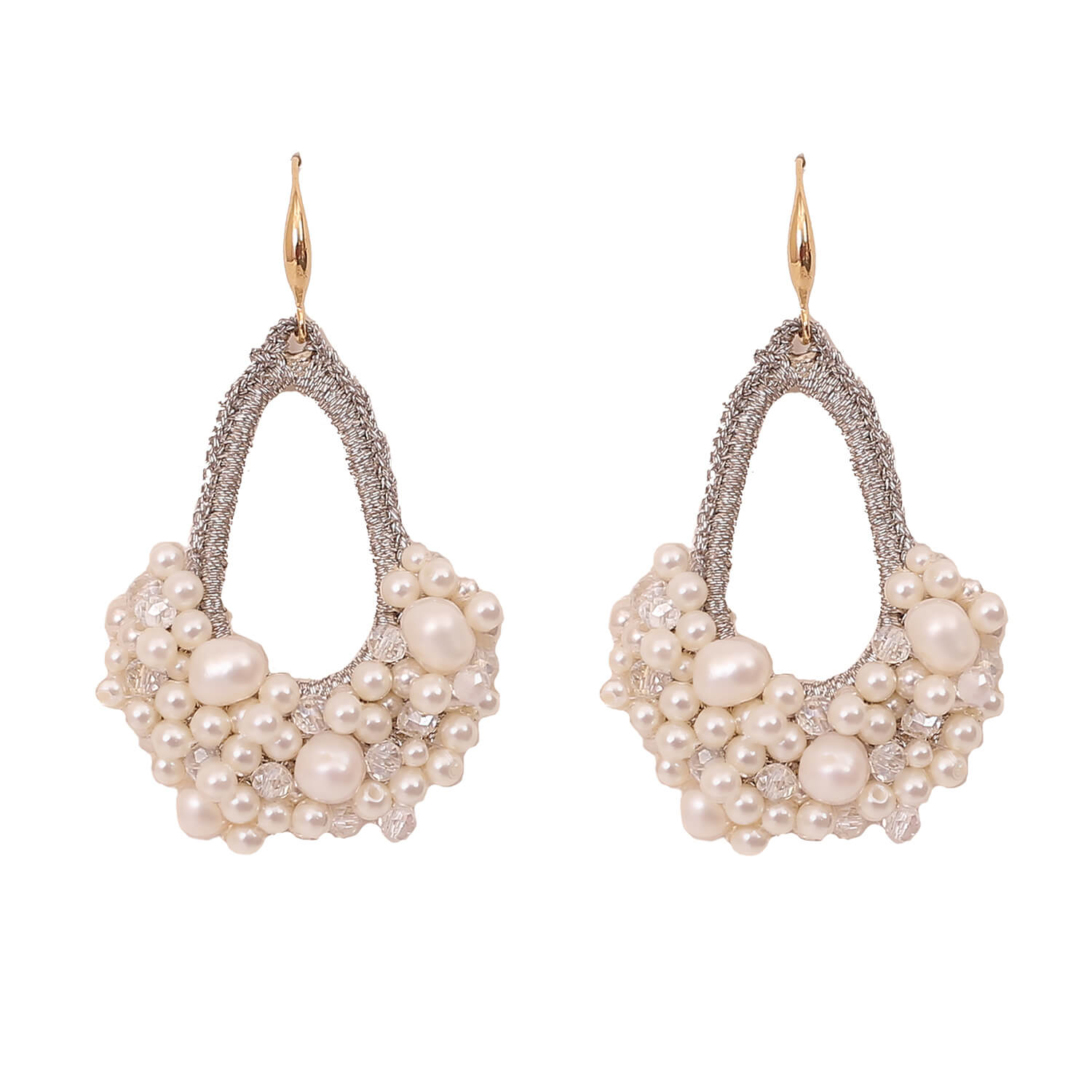 Mietta Drop Earring- Pearl Gold