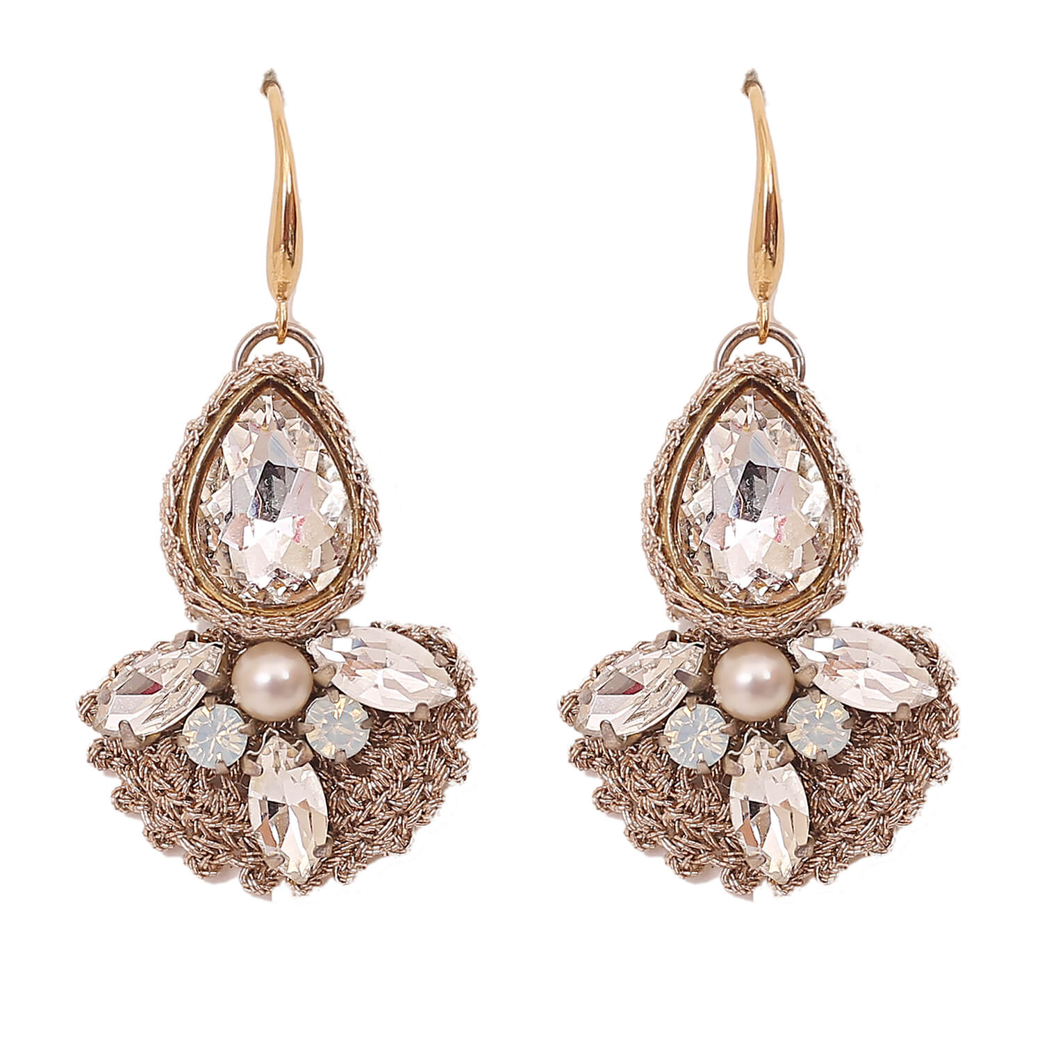 Purvi Earring- Clear Gold