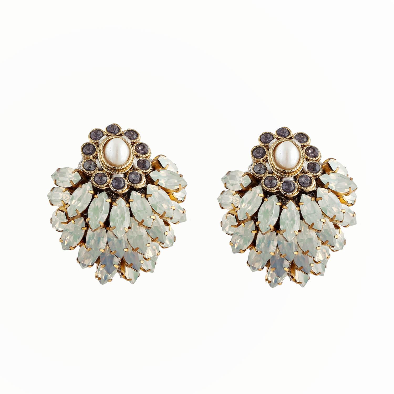 Opal Blossom Earring- Opal Pearl