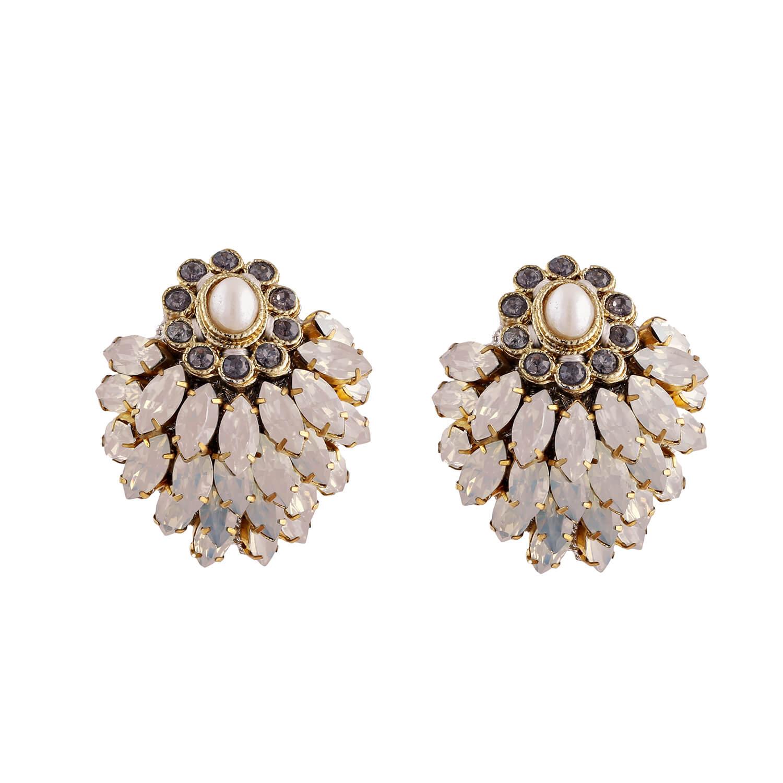 Pink Opal Blossom Earring- Opal Pearl Pink