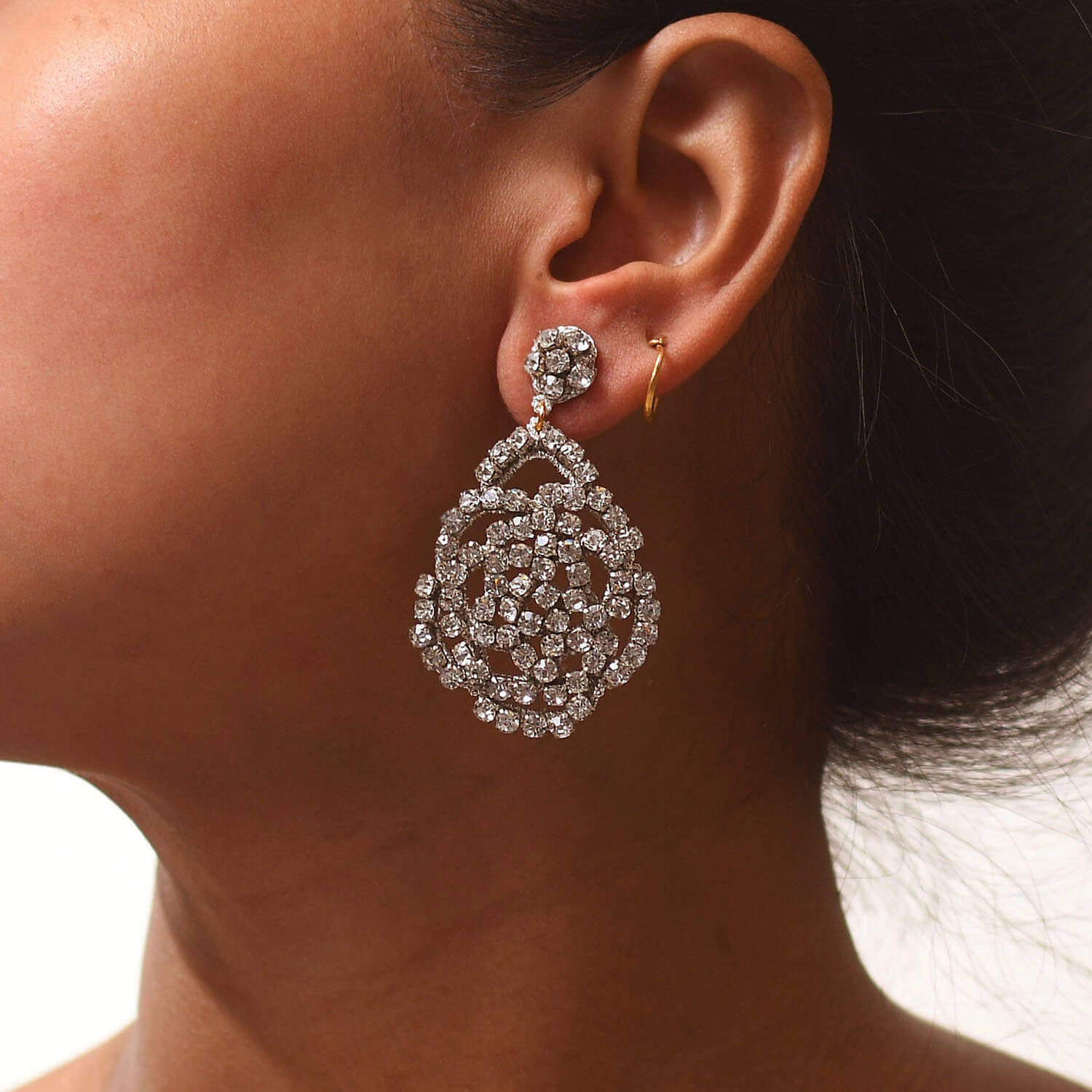 Abitha Clear Earring - Model