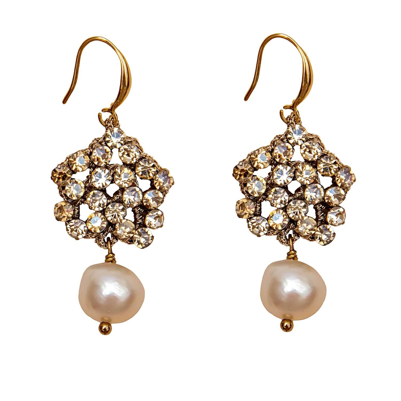 Dorcas Champagne Earring