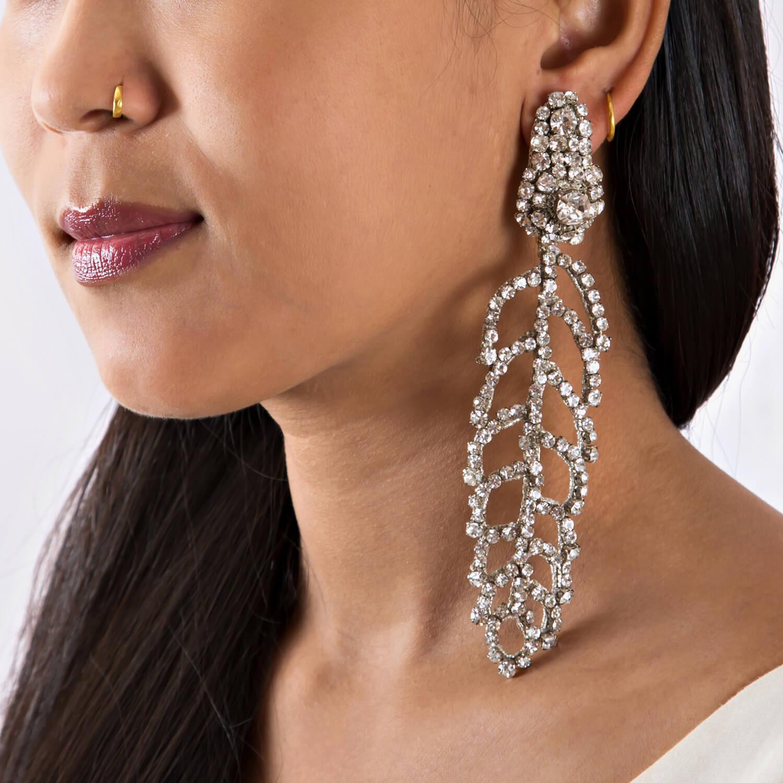 Electa Clear Earring - Model