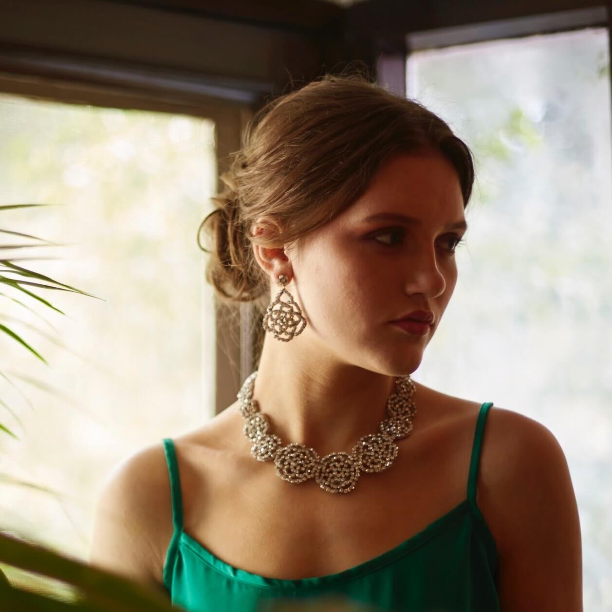 Abitha Clear Earring
