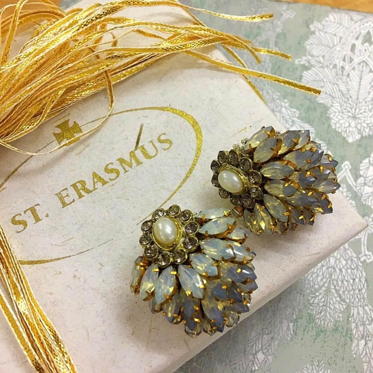 Opal Blossom Earring