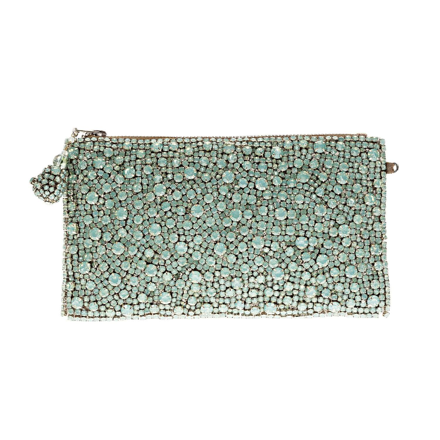 Matilda Sage Green Clutch