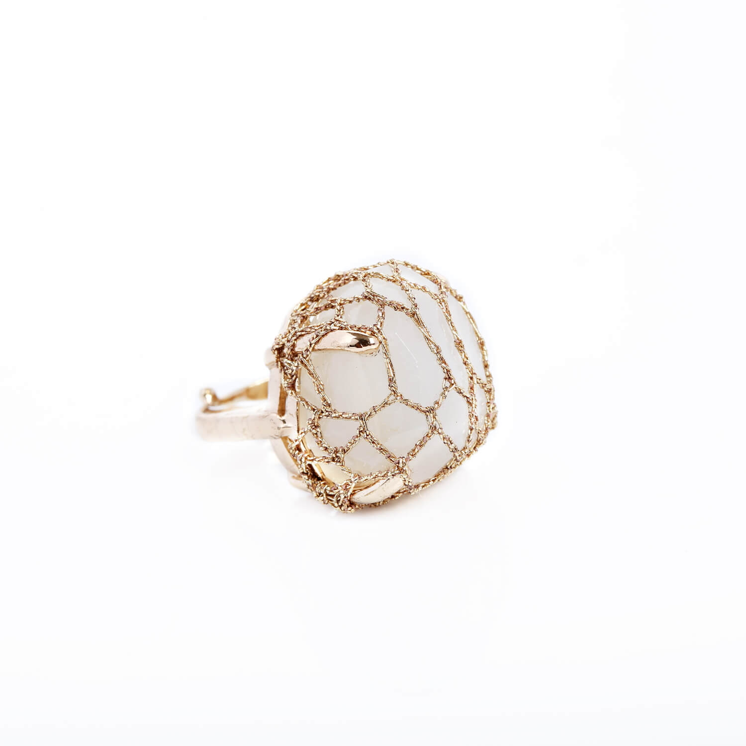 Nomad White Cocktail Ring