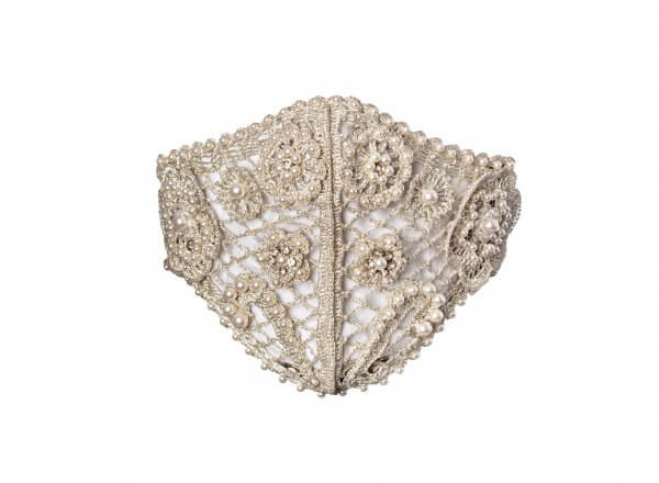 Talise Embroidered Crochet Mask